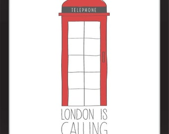 London is Calling Screenprint