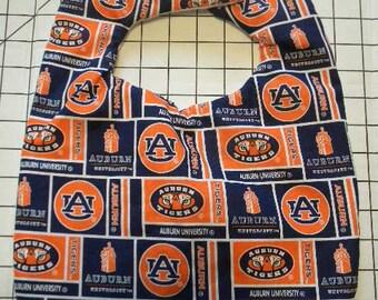 Hand Crafted Auburn University Tigers Baby Bib