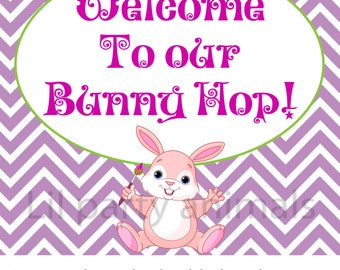 DIY Printable Easter welcome sign (INSTANT DOWNLOAD)