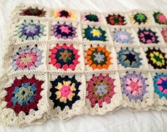 Granny Square Blanket - Sunny Day