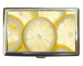 Lemon Slices Custom Cigarette Case, Money Case,  or Credit Card Case FREE SHIPPING