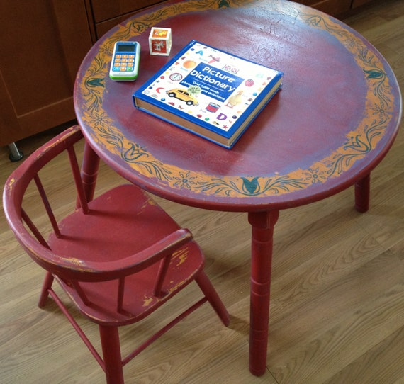 Vintage 1950 S Children S Table And Chair Set Delphos