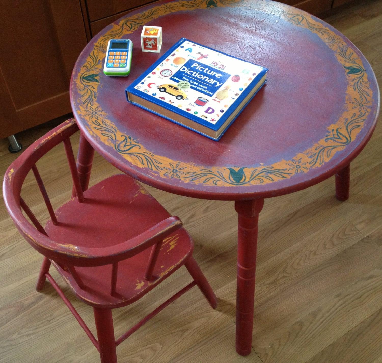 vintage 1950 39 s children 39 s table and chair set delphos. Black Bedroom Furniture Sets. Home Design Ideas