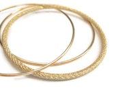 Gold Bangle Set Stardust and Dainty Bracelets