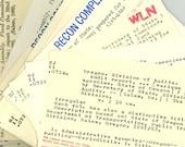 200 Vintage Library Card Catalog Cards Index Cards, Used from Portland Oregon, Mixed Media Ephemera Wholesale Art Supplies