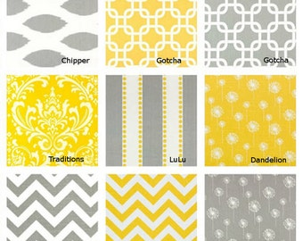 Yellow or Gray Table runner - Pick your favorite - Decorative table cloth- 13 X 72 inches- Yellow and Gray