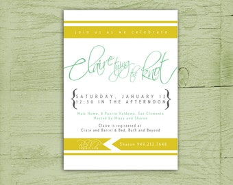Printable Calligraphic Bridal Shower Invitation