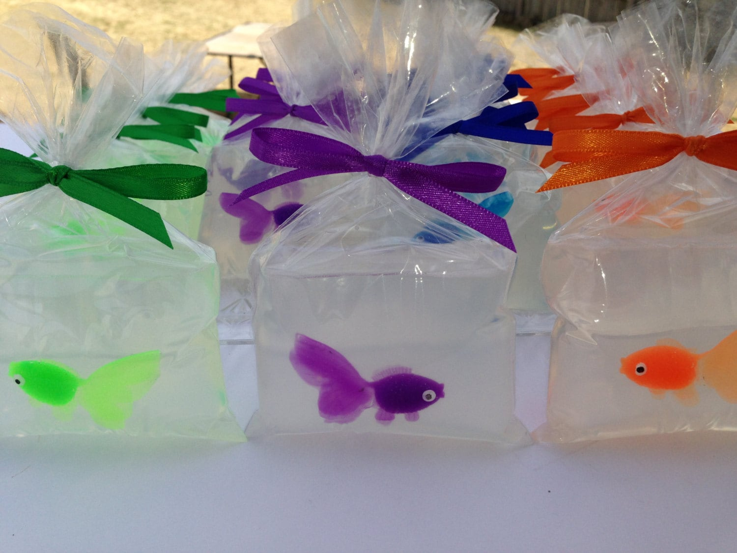 10 fish in a bag soap goldfish party favors realistic by for Fish in a bag soap