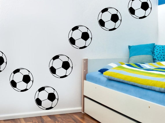 Football soccer stencil soccer kids room decor painting for Disney wall stencils for painting kids rooms