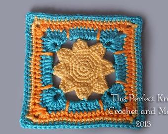 PDF Crochet Pattern File - I've Got Sunshine Square