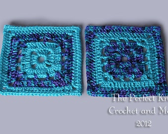 PDF Crochet Pattern File - Just before Dawn 6 Inch Square