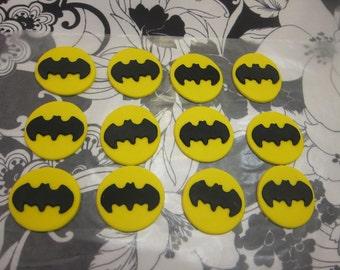 Superhero Bat inspired cupcake Toppers