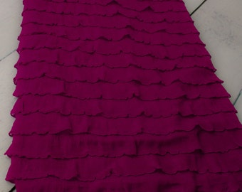REDUCED: Plum Ruffled Blanket Perfect for Infant Photo Shoot Backdrop, 9 Colors Available, Newborn Photo Prop, Photography Backdrop