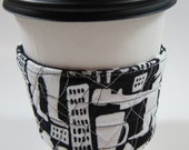 Coffee Talk- Quilted Coffee Cuff