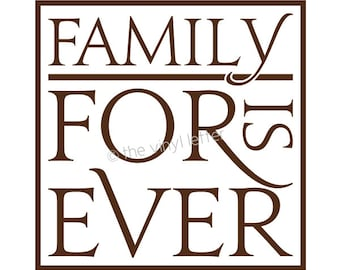 Family is Forever Block Tile Vinyl Wall Kitchen Decal