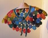Crocheted -Lace -Collar -Cape -Capelet-Bolero-Poncho