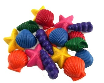 Party Pack 50 Recycled Seashell Doodler Crayons