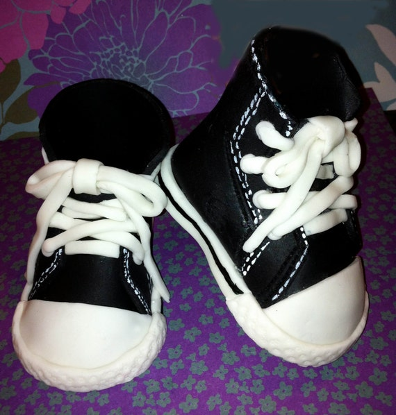 items similar to black hi top baby converse shoes