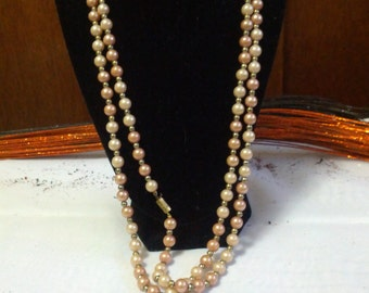 Beautiful Faux pink pearl necklace