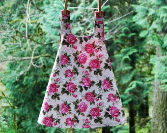 Reversible Vintage Inspired Rose Dress 3T - READY TO SHIP