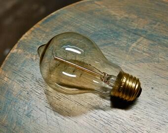 Edison Globe Light Bulb - 60 Watt Antique Spiral Filament - Vintage Reproduction A19 Glass Shape, Squirrel Cage