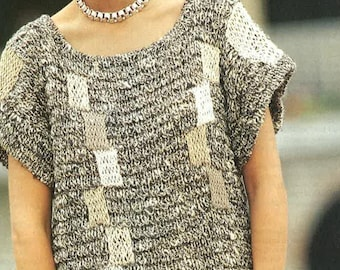 Ladies Cable Jersey Knitting Pattern PDF No.0553 by TimelessOne
