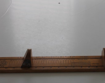 Vintage Dr. Scholl's Wooden Shoe Size Slide Measurement