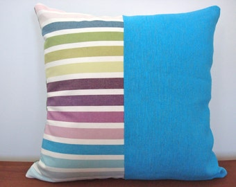 Blue Green Opposites Attract Cushion Cover 45 x 45cm
