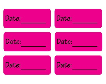 120 Removable Date Labels
