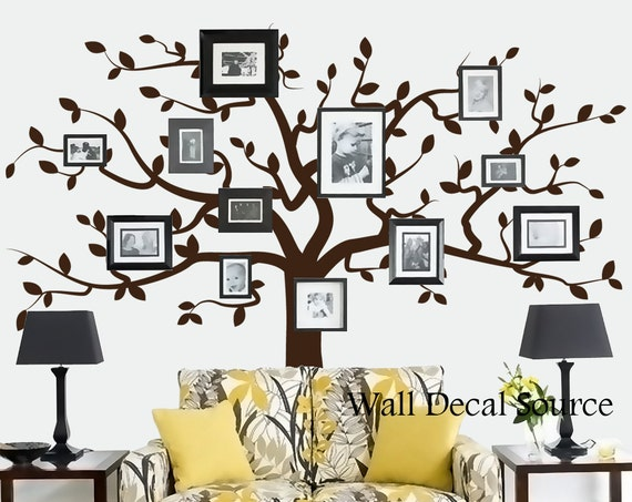 Tree wall decal white highest clarity photographs