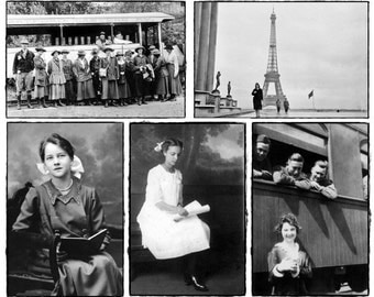 5 pre-Kennedy Ladies black / white photograph postcards - set of 5 - FIRST CLASS