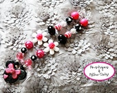 Custom Pink and Black Minnie Mouse Necklace