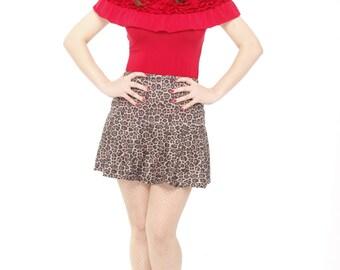 Animal print Pin Up mini skirt