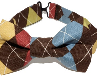 Bow Tie - Brown Plaid Bowtie