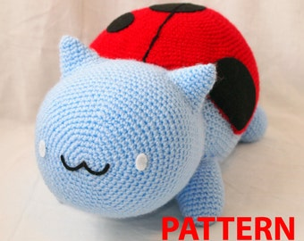 Digital PDF PATTERN 2 in 1 Catbug Amigurumi Plushie Toy Big Pattern and Small Conversion Pattern