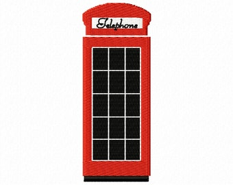 Telephone Box embroidery file