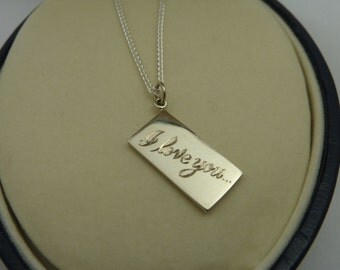 Sterling Silver Love Letter Pendant or Charm
