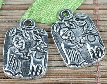 25pcs tibetan silver color elder branch pattern charms EF0264