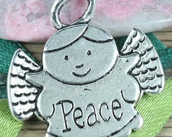 15pcs tibetan silver color Peace angel pendant EF0311