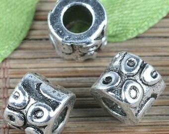 18pcs Tibetan Silver color spacer beads fit bracelet EF0326