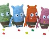 Jelly Bean Monster Crochet Pattern Amigurumi Monsters