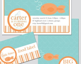 Goldfish Party Invitation and Decoration Printable