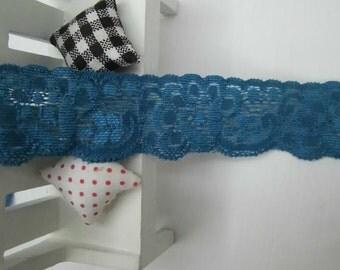 15 Yards (10pcx1.5yard )  Pretty pre-cut  Blue elastic stretch  Lace Trim  Crafts/ DIY Sewing    3.2CM  ( 1.25inch)