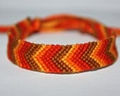READY TO SHIP- Fall Passion- Chevron Friendship Bracelet