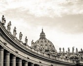 Rome Photography - St. Peter Square - Vatican City - Rome Print - Black and White Fine Art - Christmas Gift