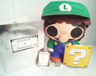 Chibi Coin Bank Inspired by Luigi from Super Mario Bros | Super Mario Room Decor | Gift Idea for Gamers | Nintendo Theme | Custom Piggy Bank