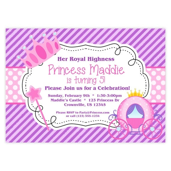 Prince And Princess Birthday Party Invitations for great invitation template