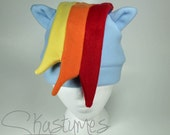 Rainbow Dash Hat My Little Pony Friendship is Magic Plush Custom Handmade