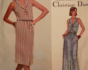 """Dress by Christian Dior - 1970's - Vogue Paris Original Pattern 1648  Uncut Size 12  Bust  34"""""""