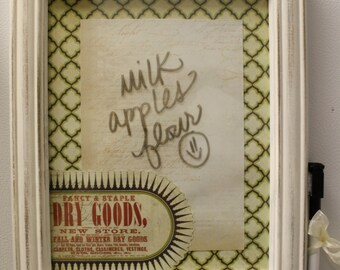 Dry Erase Refrigerator Door Grocery List- Customized for You